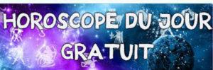 Bannière bleue et violette -Horoscope du jour gratuit signes par signes